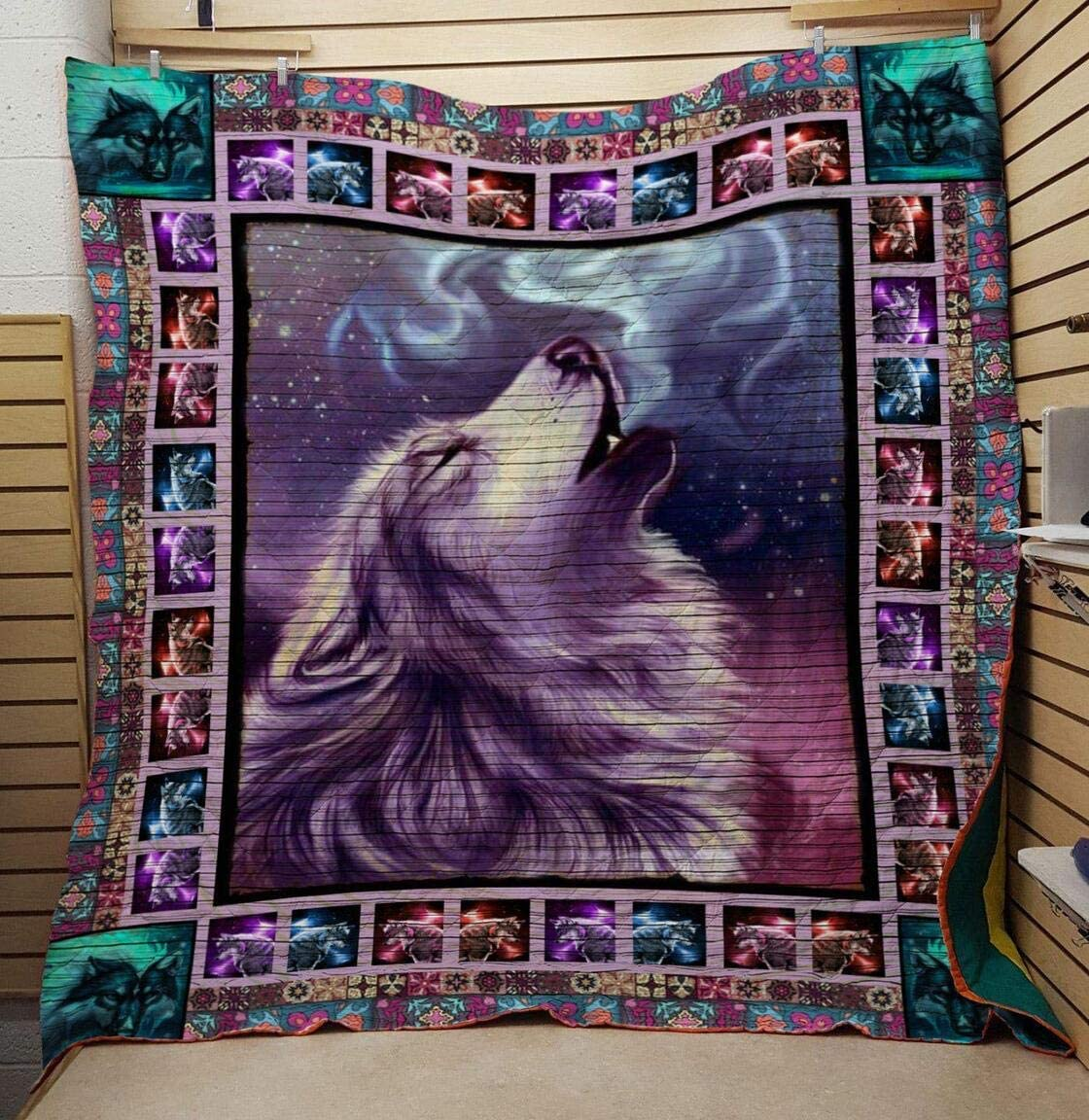 Personalized Wolf Super sale Quilt Gift for Your My Wife to Dad Mom Limited time free shipping Lovers