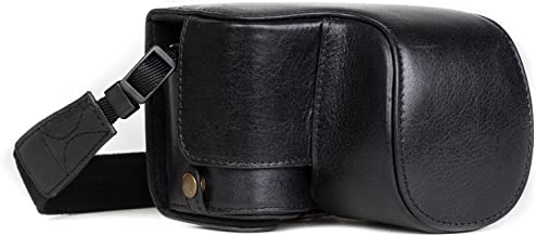 Megagear MG1236 Sony Alpha A6500 (16-50 mm) Ever Ready Genuine Leather Camera Case & Strap with Battery Access, Black