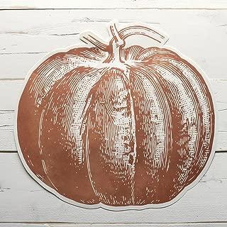 Die Cut Pumpkin Paper Placemat Set of 12 American Made