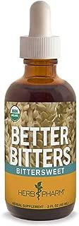 Herb Pharm Better Bitters Certified Organic Digestive Bitters, Bittersweet, 2 Ounce
