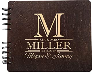 Soon to Be Mr. and Mrs. Guest Book Custom Engraved Wedding Favor Couple Polaroid Album for Bride Groom (8.5
