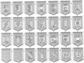 Metall Stanzb/ögen Stanze Stanzrahmen Schablone zur Scrapbooking Karten Tischkarten Geburtstag Silber tailor13me Alphabet Stanzschablone Stanzform