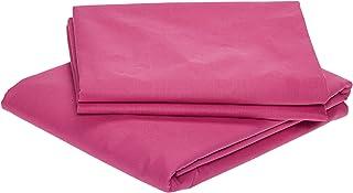 3 Piece BedSheet Set, Size-3 King, Pink, W 33.2 x H 22.8 x L 3.6 cm