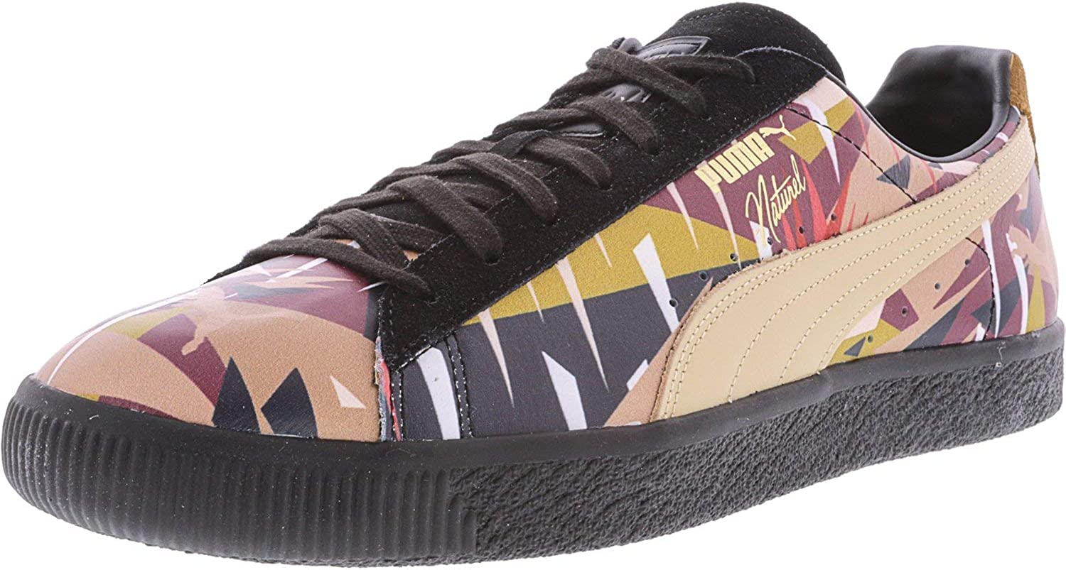 Puma Men's Clyde Moon Jungle Naturel Ankle-High Leather Fashion Sneaker