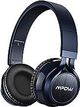 Mpow Thor Cascos Bluetooth Inalámbrico, 2 en 1 Auriculares Bluetooth Diadema(Bluetooth, 3.5mm Cable, 8 Hrs de Reproducción ), Cascos Cerrados Plegable con Micrófono para TV/Móvil/PC,Azul