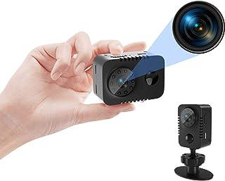 PEDZEN Full HD 1080p Mini Spy Hidden Camera with PIR Motion Detector and Night Vision Small Nanny Cams Portable Indoor Vid...