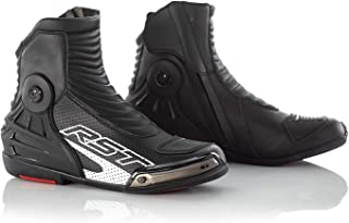 RST 2341 Tractech Evo III Short Leather Boots - Black/White (48)