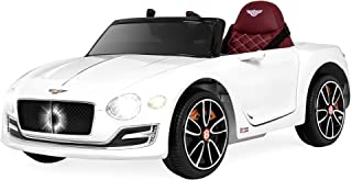 Best Choice Products 12V Kids Bentley EXP 12 Ride On Car w/ Remote Control, Foot Pedal, 2 Speeds, Headlights, AUX- White