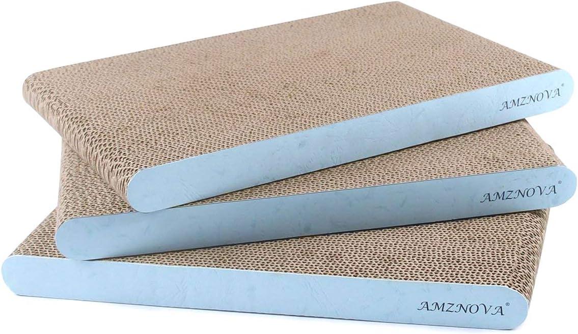 AMZNOVA Deluxe Mail order Cat Scratcher Cardboard Scratching Pads Scratch Lounge S
