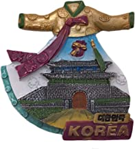 Korea Hanbok 3D Refrigerator Magnet Tourist Souvenirs Resin Magnetic Stickers Fridge Magnet Home & Kitchen Decoration from China