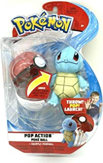 Pokemon Collectible Pop Action Squirtle + Poke Ball