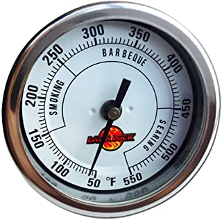 """LavaLock 3"""" Adjustable Gas Charcoal Smoker Pit Grill BBQ Thermometer Electric Heavy Duty Stainless 2.5"""" stem"""