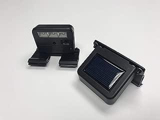 Homebrite Solar Powered Deck Wunder LED Light (SET OF 2) Clip-On Yard Security Sign Spotlight