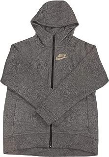 Girls NSW Modern Full-Zip Hoodie Size Large at3346-091 Grey/Gold
