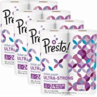 Presto 308-Sheet Ultra-Strong Mega Roll Toilet Paper (24 Count)