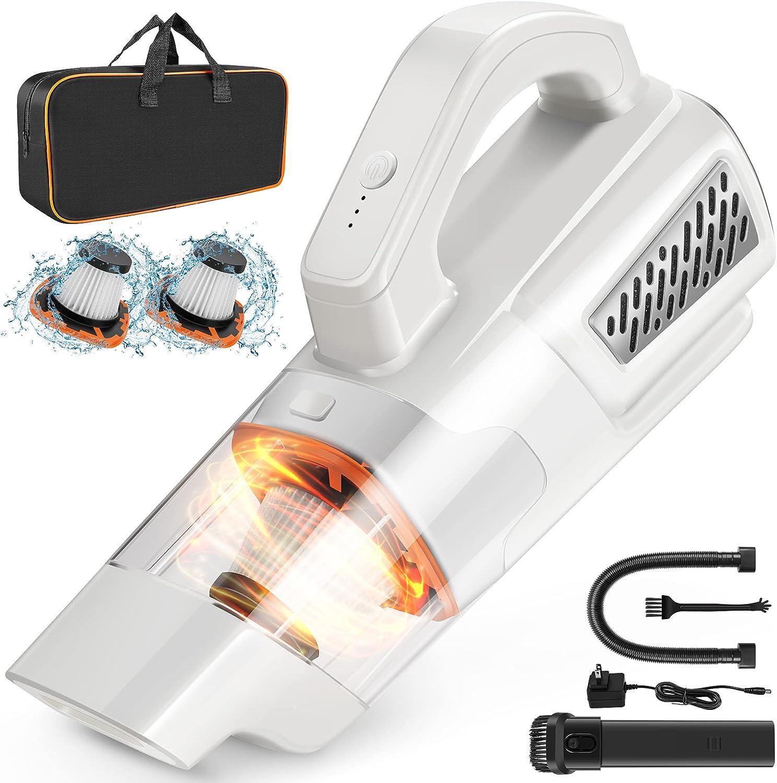 Handheld Vacuum Cordless - 2 Speed Portable Mini Vacuum, Pet Hair Hand Vacuum Cleaner, 10000Pa Lightweight and Rechargeable Hand Held Vacuuming Cordless Hand Vac Car Vacuum for Home Office and Car