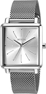 Nixon Women's K Squared Milanese Japanese-Quartz Watch with Stainless-Steel Strap, Black, 19 (Model: A12061920)
