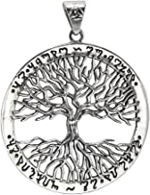 Sterling Silver Yggdrasil Tree of Life As Above So Below Theban Pendant