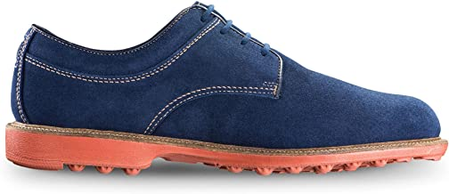 blue spikeless golf shoes