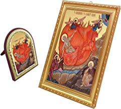 FengMicon Painting Art Ascension of the Prophet Elijah Catholic Gift Christian Icon