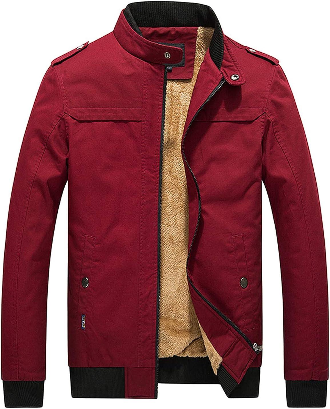 Max 64% OFF D.B.M Popular standard Men's Winter Plus Velvet Windbrea Collar Cotton Thickening