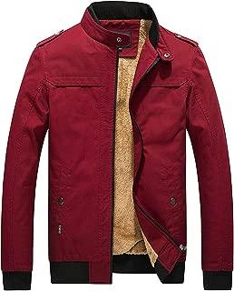 D.B.M Men's Winter Plus Velvet Thickening Collar Cotton Windbreaker Jacket