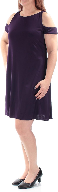 Lauren Ralph Lauren Womens Zeen Cut-Out Cold Shoulder Cocktail Dress Purple 8
