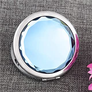 Mini Portable Vintage Cosmetic Mirror, Shining Crystal Rhinestone Magnification Double Sides Makeup Mirror, for Women Lady...