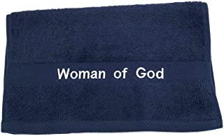 PREACHING HAND TOWEL WOMAN OF GOD(NAVY/WHITE)
