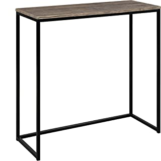 Abington Lane Modern Console - Accent Table for Entryway, Hallway, Living Room (Distressed Pecan Finish)