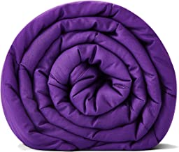RelaxBlanket Weighted Blanket | 60''x80'',12lbs | for Individual Between 110-160 lbs | Premium Cotton Material with Glass Beads | Violet