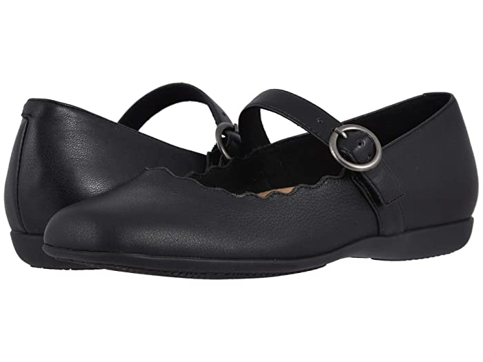 Rockabilly Shoes- Heels, Pumps, Boots, Flats Trotters Sugar Black Womens Flat Shoes $82.46 AT vintagedancer.com