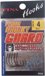 ハヤブサ(Hayabusa) ワームフック パワーワッキーガード 4号 5本 ブラックニッケル FF210...