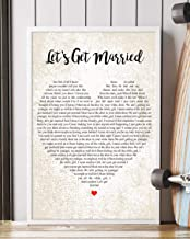 Trendora Decor Let's Get Married Song Lyrics Portrait Poster Print (16