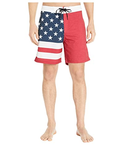 Hurley 18 Phantom Patriot Boardshorts (Gym Red) Men