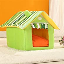 YUCHAO JYMC904589749 Removable Washable Dog House Warm Soft Home Shape Bed with Cushion for Dog Cat, Size:XL(Coffee) (Colo...