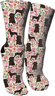 Boykin Spaniel Dog Pink Cute Florals Crazy Socks 3D Crew Socks