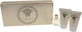 Eros Pour Femme 2015 by Versace 3 Piece Travel Kit Gift Set - Eau de Parfum