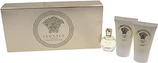 Versace Eros Pour Femme 3 Pieces Travel Kit - Eau De Parfum, Shower Gel & Body Lotion, 3 Count