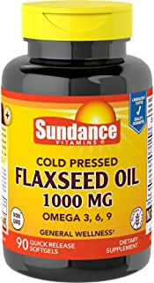 Sundance Flaxseed Oil 1000 mg Tablets, 90 Count