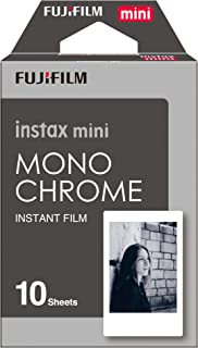 Instax Mini Monochrome 10pk Film Suitable for Instax Mini Cameras Including 7S,25, 50S, 8, 70 & 90, Also Share Printer SP-2