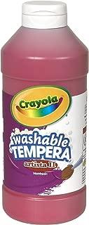 Crayola Artista II Washable Tempera Paint 16oz Red