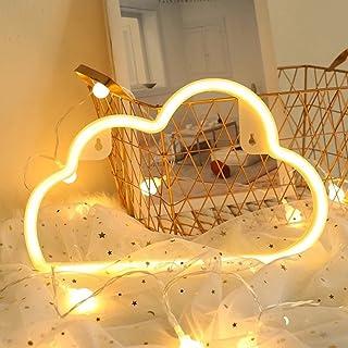 Nordstylee Neon Cloud Signs USB ou à piles pour décoration de chambre d'enfants/fête d'anniversaire, vacances ou mariage (...