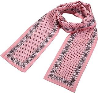 prettystern uomo donna sciarpa stretta in seta a 2 strati