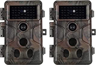 $149 » 2-Pack No Glow Game & Deer Trail Cameras 20MP 1080P H.264 Video 100ft Night Vision Motion Activated 0.1S Trigger Speed Waterproof Security Cameras for Home and Outdoor Surveillance & Wildlife Hunting