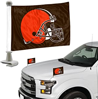 ProMark NFL Cleveland Browns Flag Set 2-Piece Ambassador Style, Team Color, One Size