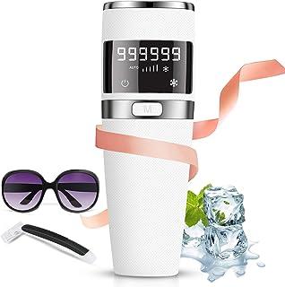IPL Depiladora de Luz Pulsada,999,999 Flashes Dispositivo láser de depilación, Depiladora Luz Pulsada con Hielo/indoloro, ...