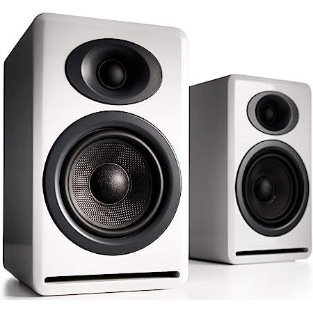 Audioengine P4 Passive Speakers Bookshelf Speakers Pair   Home Stereo High-Performing 2-Way Desktop Speakers   AV Receiver or Integrated Amplifier Required (White)