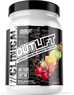 Nutrex Research Outlift, Clinically Dosed Pre-Workout Powerhouse, Citrulline, BCAA, Creatine, Beta-Alanine, Taurine, Banne...