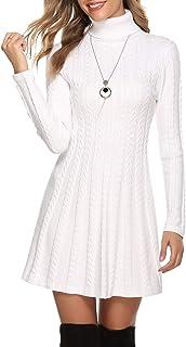 Hawiton Vestido de Punto para Mujer Elegante Vestido de Sué